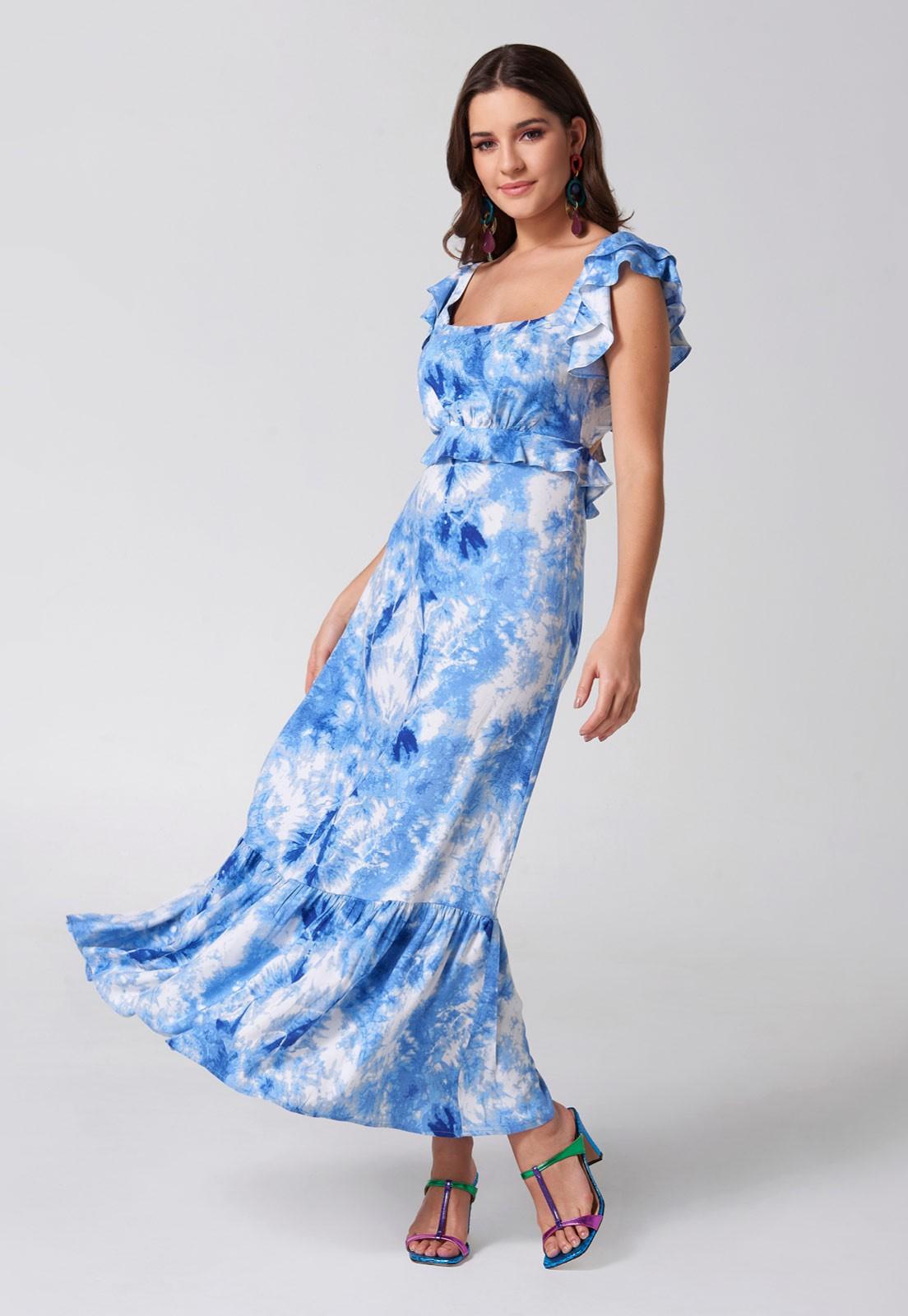 Vestido Tie Dye Blue