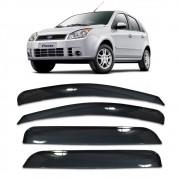 Calha Chuva Fiesta Hatch Sedan 2002 a 2010 4 Portas