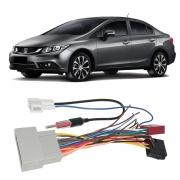 Chicote Som Radio Multimidia City Honda Civic 2012 a 2018 + Adaptador Antena