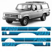 Faixa Lateral F1000 F-1000 1991 a 1993 Turbo Azul