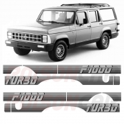 Faixa Lateral F1000 F-1000 1991 a 1993 Turbo Prata