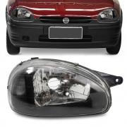 Farol Corsa Hatch Wagon Wind Pick Up 1994 a 1999 Mascara Negra