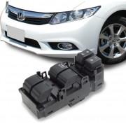 Interruptor Vidro Eletrico Civic 2012 a 2016 Quadruplo Motorista