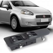 Interruptor Vidro Eletrico Punto 2007 a 2012 Sem Botao Retrovisor Quadruplo Motorista