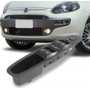 Interruptor Vidro Eletrico Punto 2012 a 2017 Com Botao Retrovisor Quadruplo Motorista