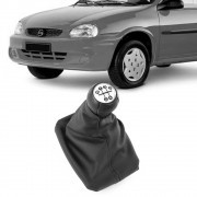 Kit Coifa Bola Cambio Corsa Wind Hatch Wagon Pickup 1994 a 2010 Lente Prata