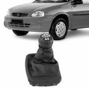 Kit Coifa Bola Cambio Corsa Wind Hatch Wagon Pickup 1994 a 2010 Lente Preta