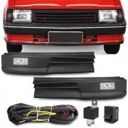 Kit Farol Milha Chevette 1982 a 1996 Chevy Marajo 1983 a 1994 Com Spolier