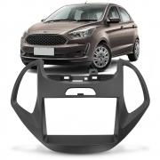 Moldura Central Multimídia 2din Ford Ka Ka+ 2014 a 2017 7 Polegadas Preto Fosco