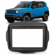 Moldura Central Multimídia 2din Jeep Renegade 2015 a 2019 9 Polegadas Preto