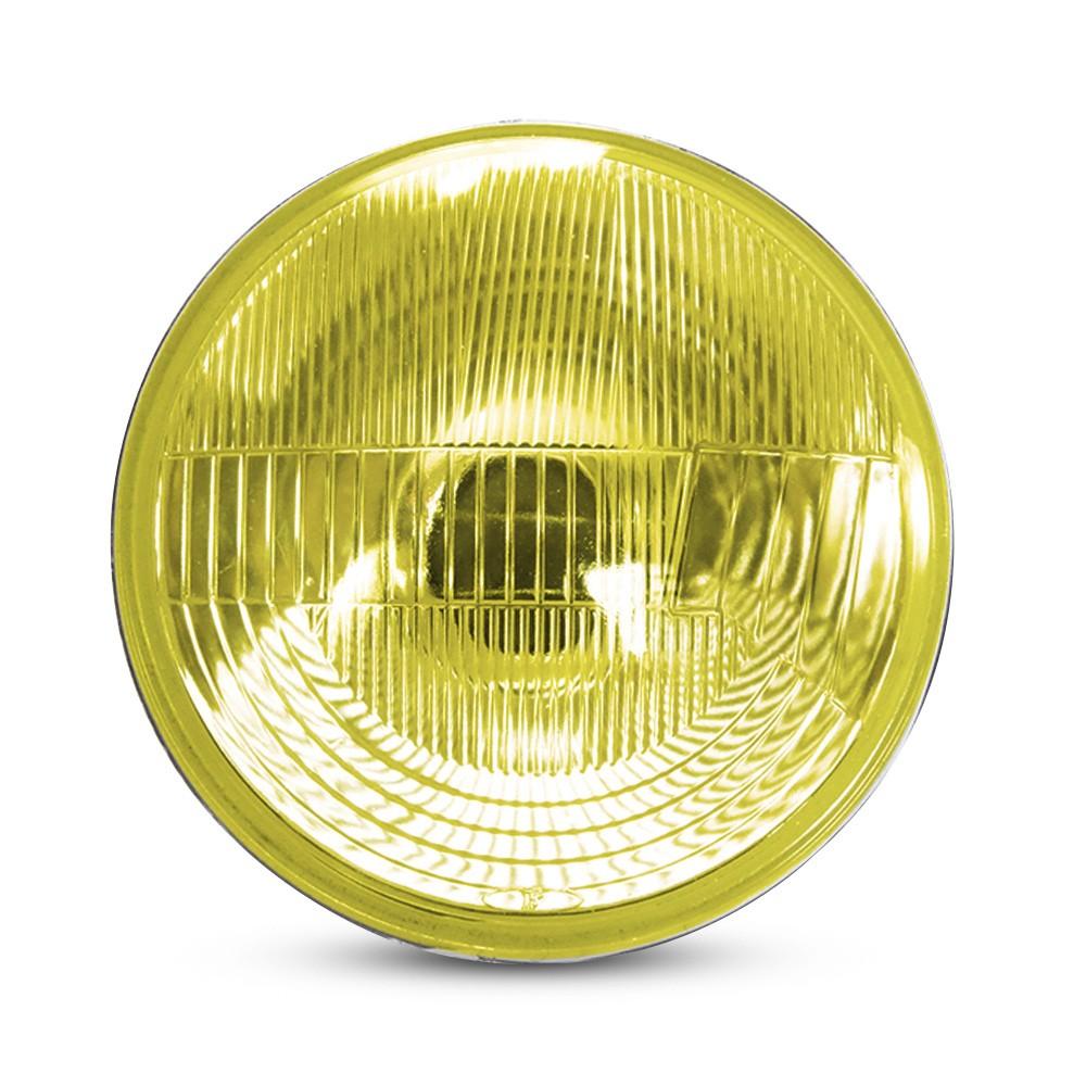 Bloco Farol Estriado Com Vigia Amarelo 180mm