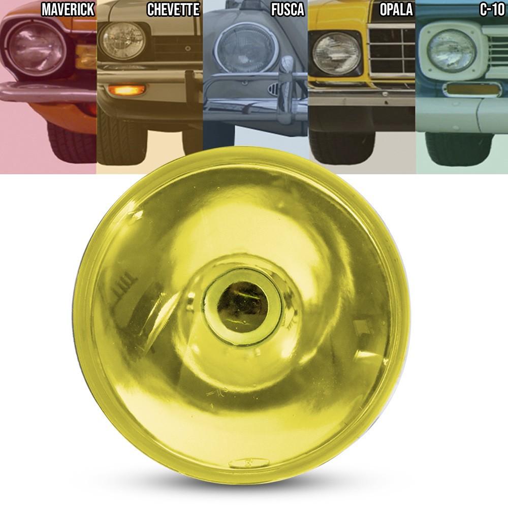 Bloco Farol Liso Sem Vigia Amarelo 180mm