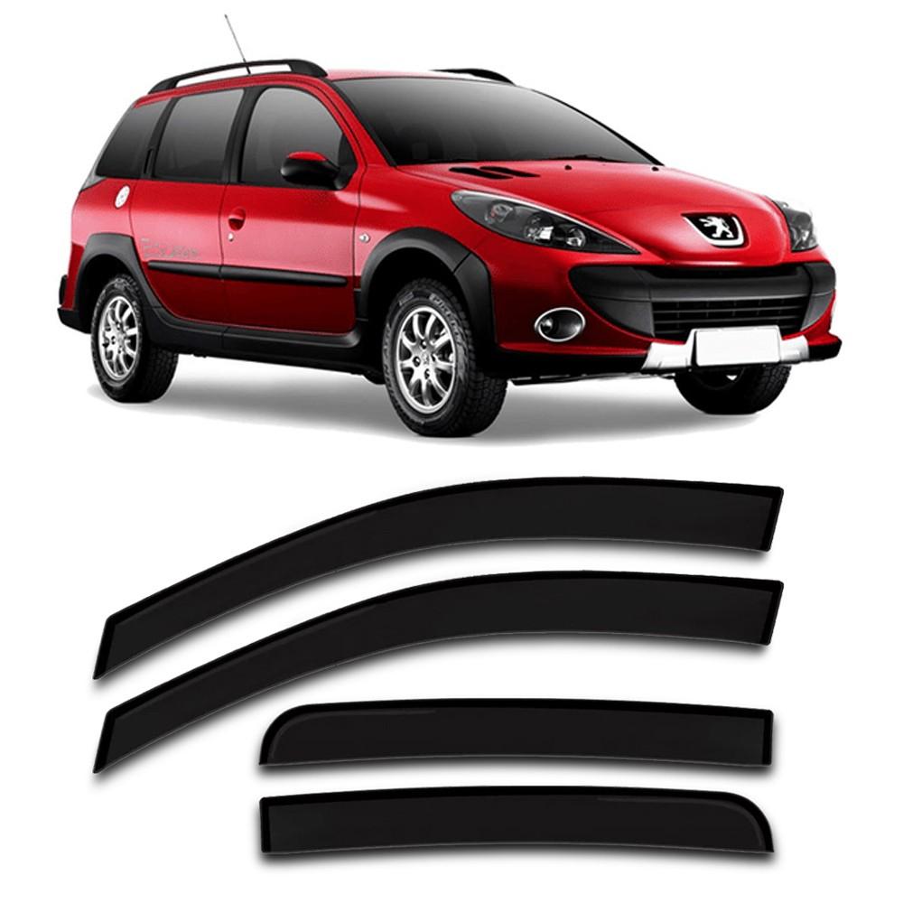 Calha Chuva Peugeot 206 207 SW 2000 a 2013 4 Portas