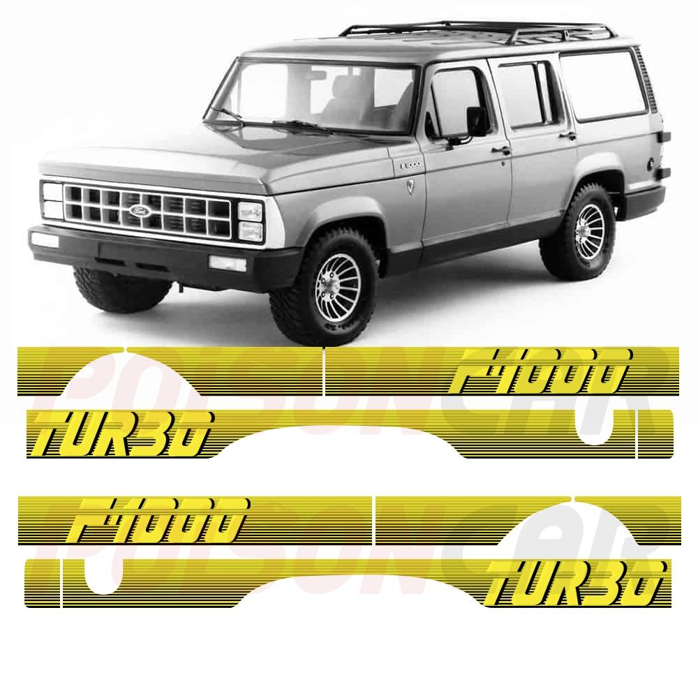 Faixa Lateral F1000 F-1000 1991 a 1993 Turbo Amarela