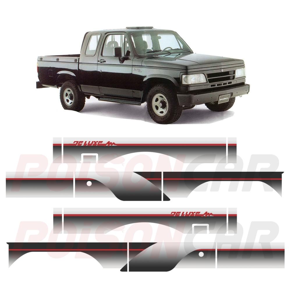 Faixa Lateral D20 D-20 1993 a 1995 Cabine Dupla