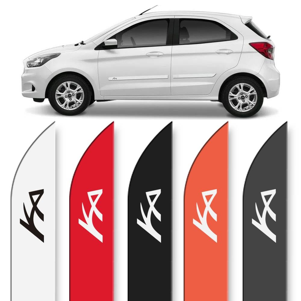 Friso Lateral Ford Ka 2015 a 2020 Facao Cores
