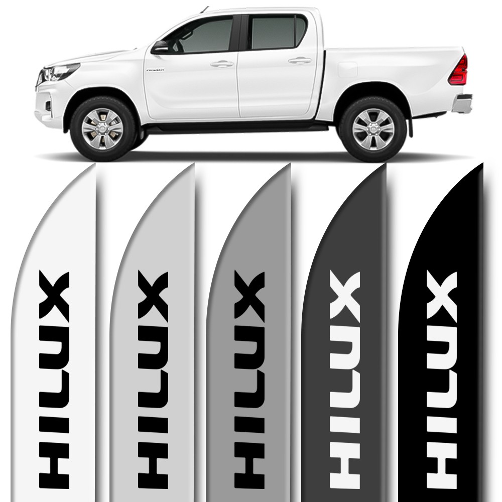 Friso Lateral Hilux 2006 a 2019 Cabine Dupla Facao Cores