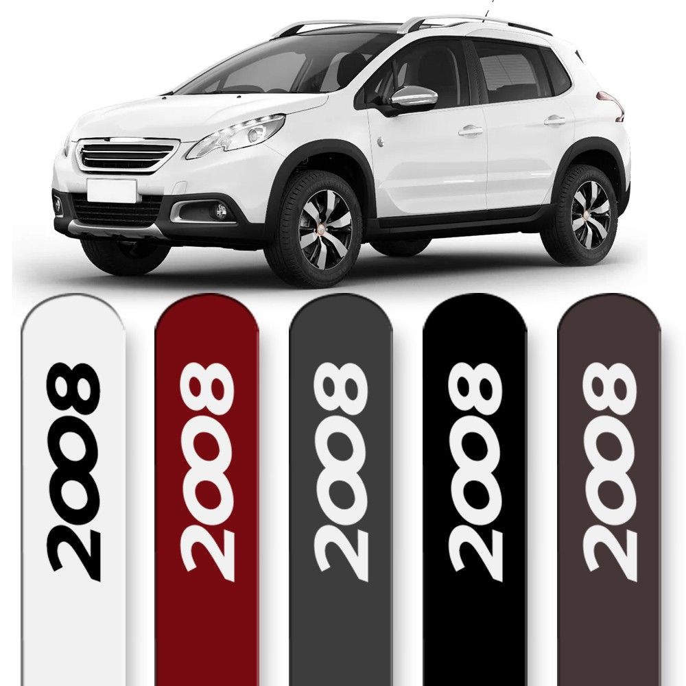 Friso Lateral Peugeot 2008 2015 a 2020 Cores