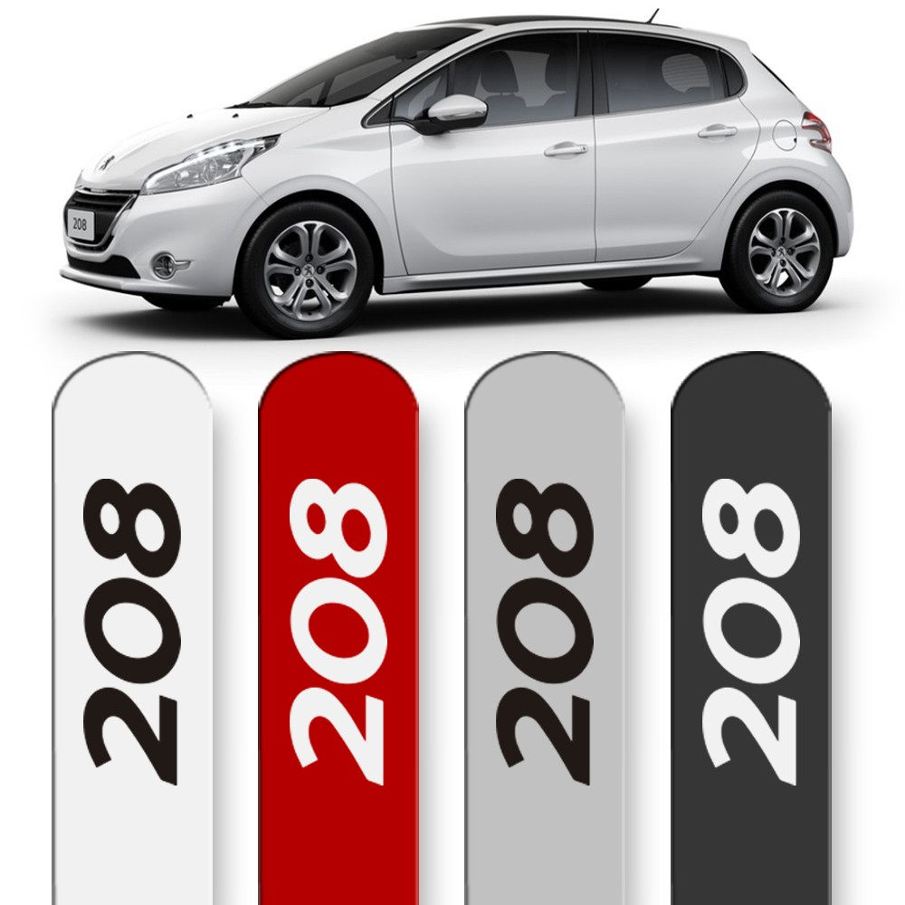 Friso Lateral Peugeot 208 2013 a 2019 Cores