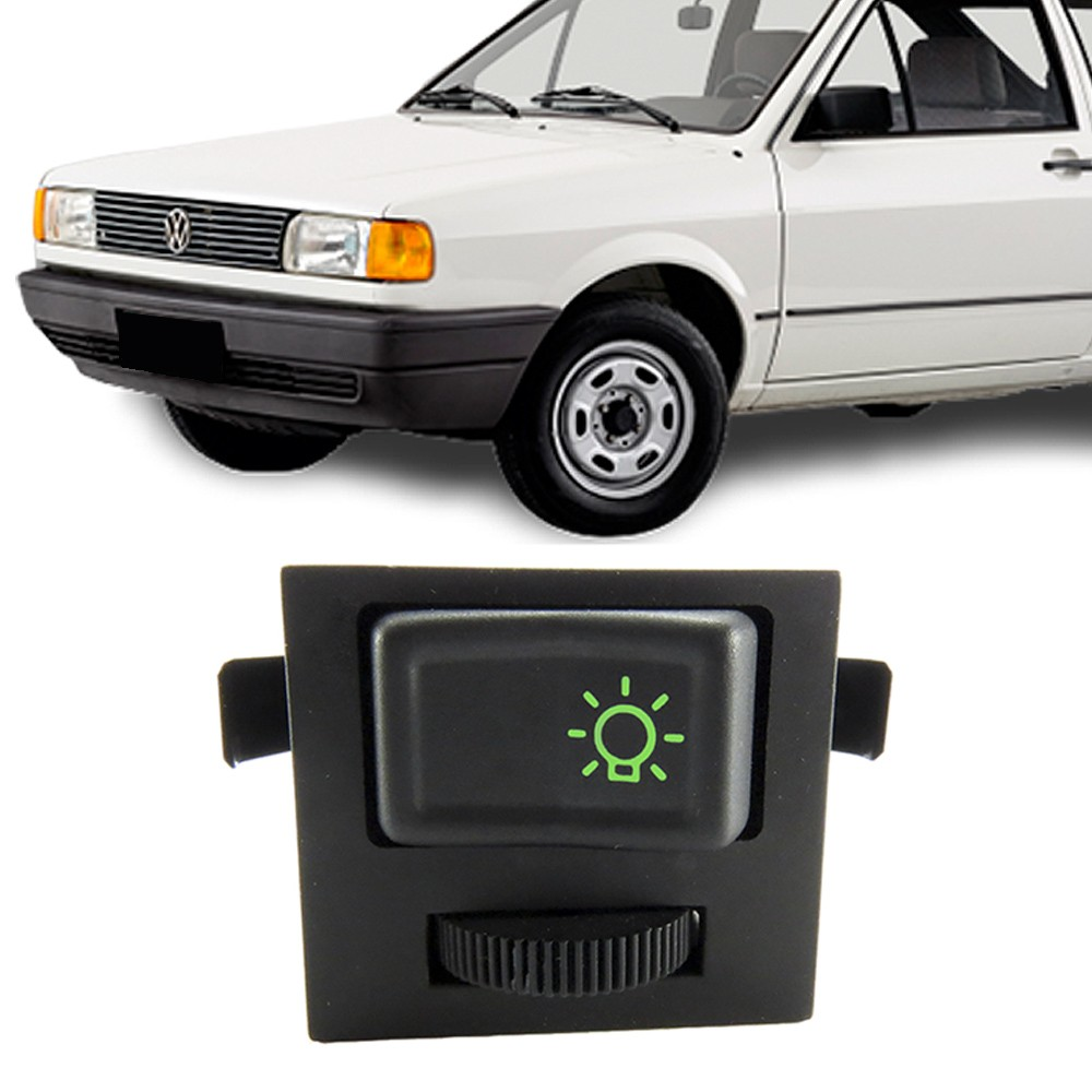 Interruptor Farol Gol Saveiro Parati Voyage 1987 a 1985 Santana 1984 a 1992 Quantum Com Reostato