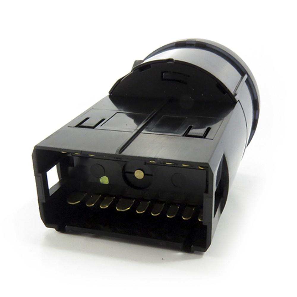 Interruptor Gol Saveiro Parati G3 1999 a 2005 Led Vermelho Milha Neblina Reostato