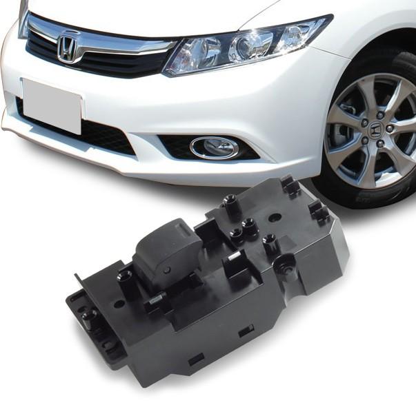 Interruptor Vidro Eletrico Civic 2012 a 2016 Simples Passageiro
