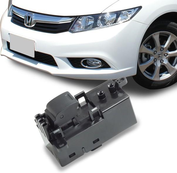 Interruptor Vidro Eletrico Civic 2012 a 2016 Simples Traseiro