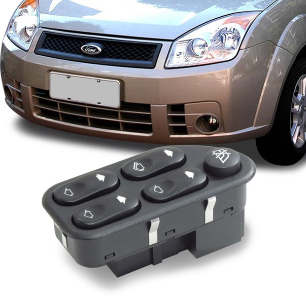 Interruptor Vidro Eletrico Fiesta Amazon 2003 a 2014 Ecosport Ranger Quadruplo Motorista