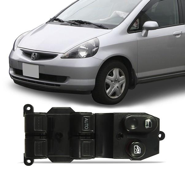 Interruptor Vidro Eletrico Fit 2003 a 2008 Quadruplo Motorista