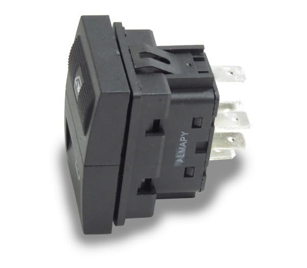 Interruptor Vidro Eletrico Gol Parati Saveiro G3 1999 a 2005 Simples Dianteiro