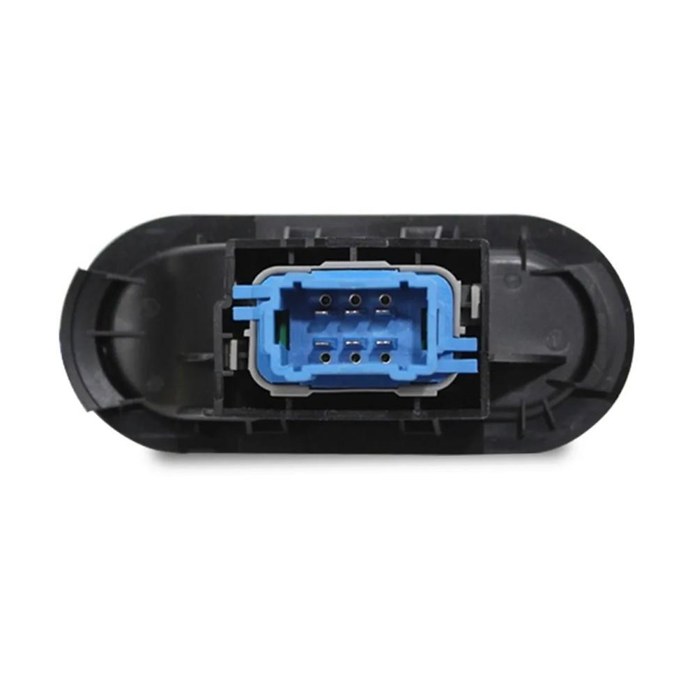 Interruptor Vidro Eletrico Logan Sandero Simples Com Moldura Base Azul Traseiro