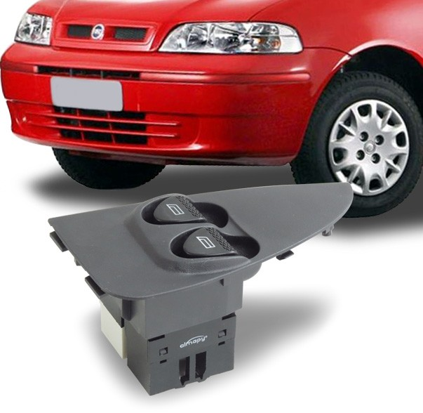 Interruptor Vidro Eletrico Palio 2001 a 2015 Indicador Pequeno Duplo Motorista