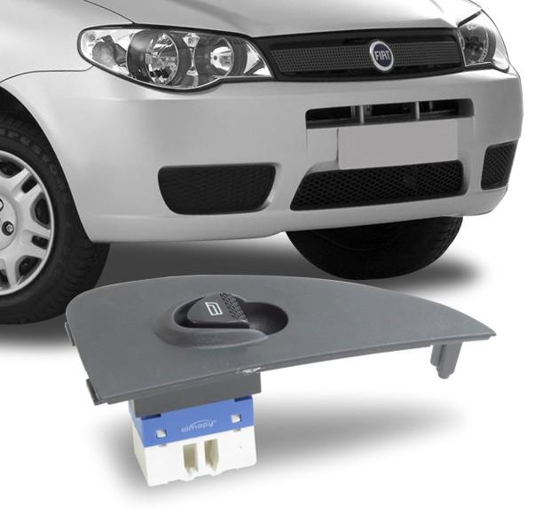 Interruptor Vidro Eletrico Palio 2001 a 2015 Indicador Pequeno Simples Passageiro