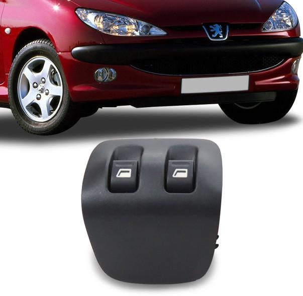 Interruptor Vidro Eletrico Peugeot 206 1999 a 2006 Duplo Console Traseiro