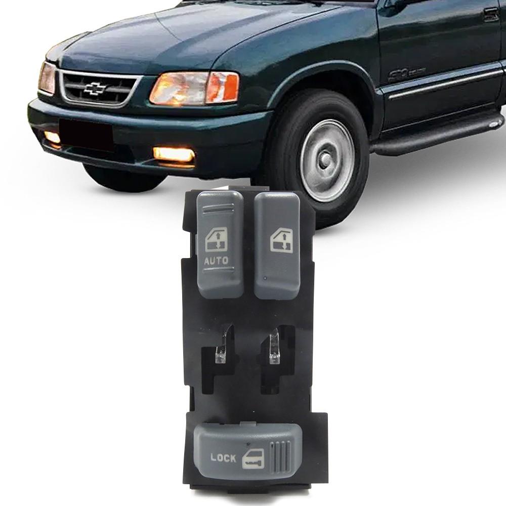 Interruptor Vidro Eletrico S10 1995 a 2011 Silverado 1997 a 2002 Duplo Motorista