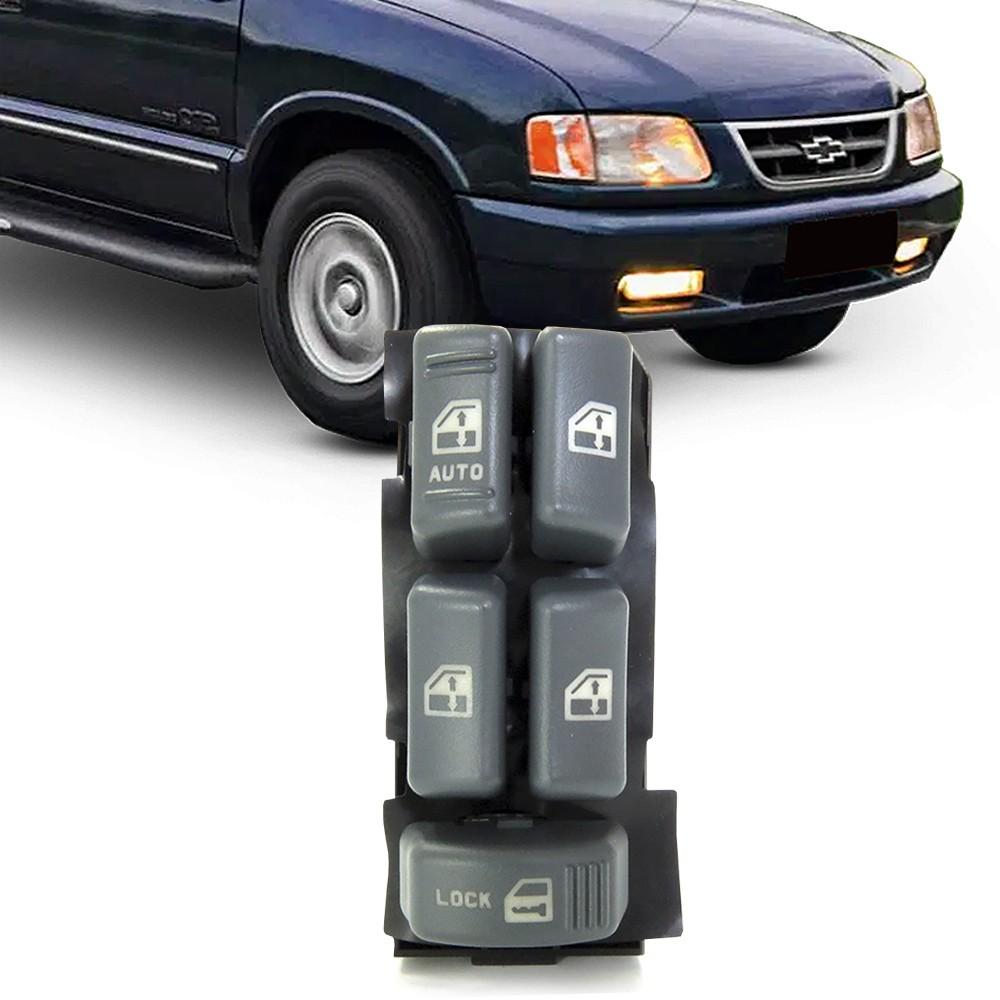 Interruptor Vidro Eletrico S10 Blazer 1995 a 2011 Quadruplo Motorista