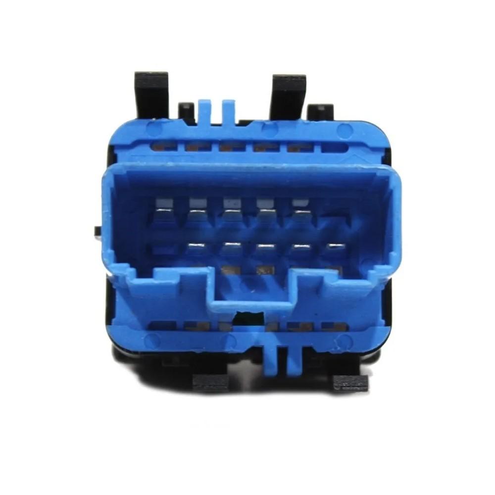 Interruptor Vidro Eletrico Sandero Duster 2011 a 2016 Base Azul Duplo Motorista