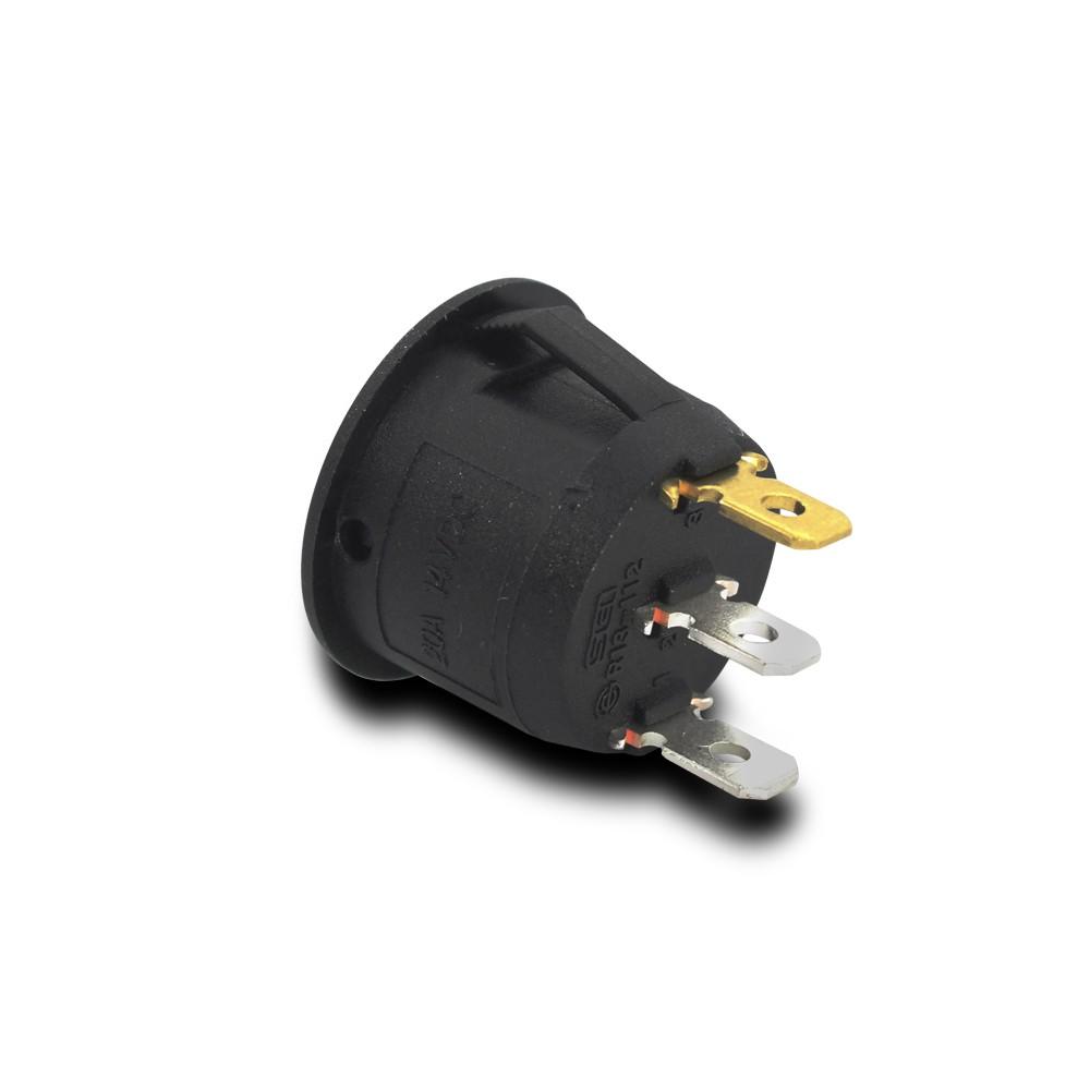 Kit 5 Interruptor Farol Milha Redondo Universal Led