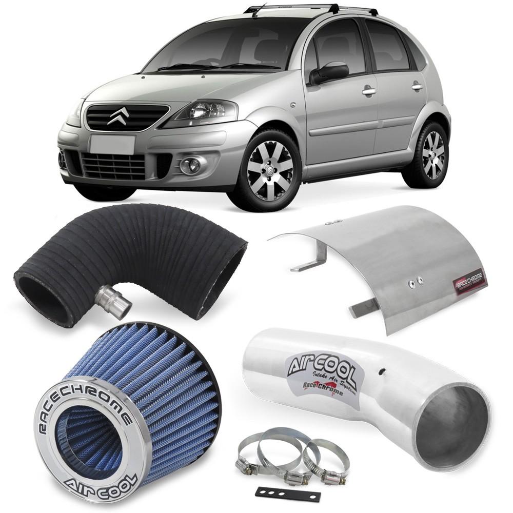 Kit Air Cool Filtro Esportivo Citroen C3 06 07 08 10 11 12 Azul 1.4 8v