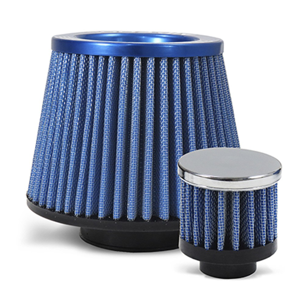 Kit Air Cool Filtro Esportivo Gol Parati Bola G3 G4 1.0 8v 16v Azul
