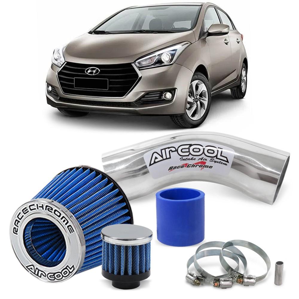 Kit Air Cool Filtro Esportivo Hb20 12 13 14 15 16 17 1.6 16v Intake