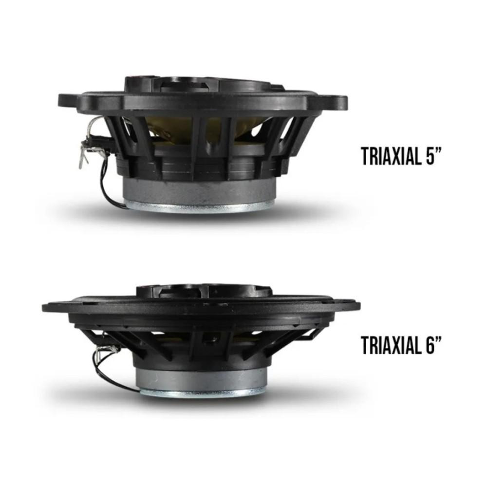 "Kit Alto Falante Bravox Triaxial 5"" 6"" Gol G2 G3 G4 1995 a 2008"