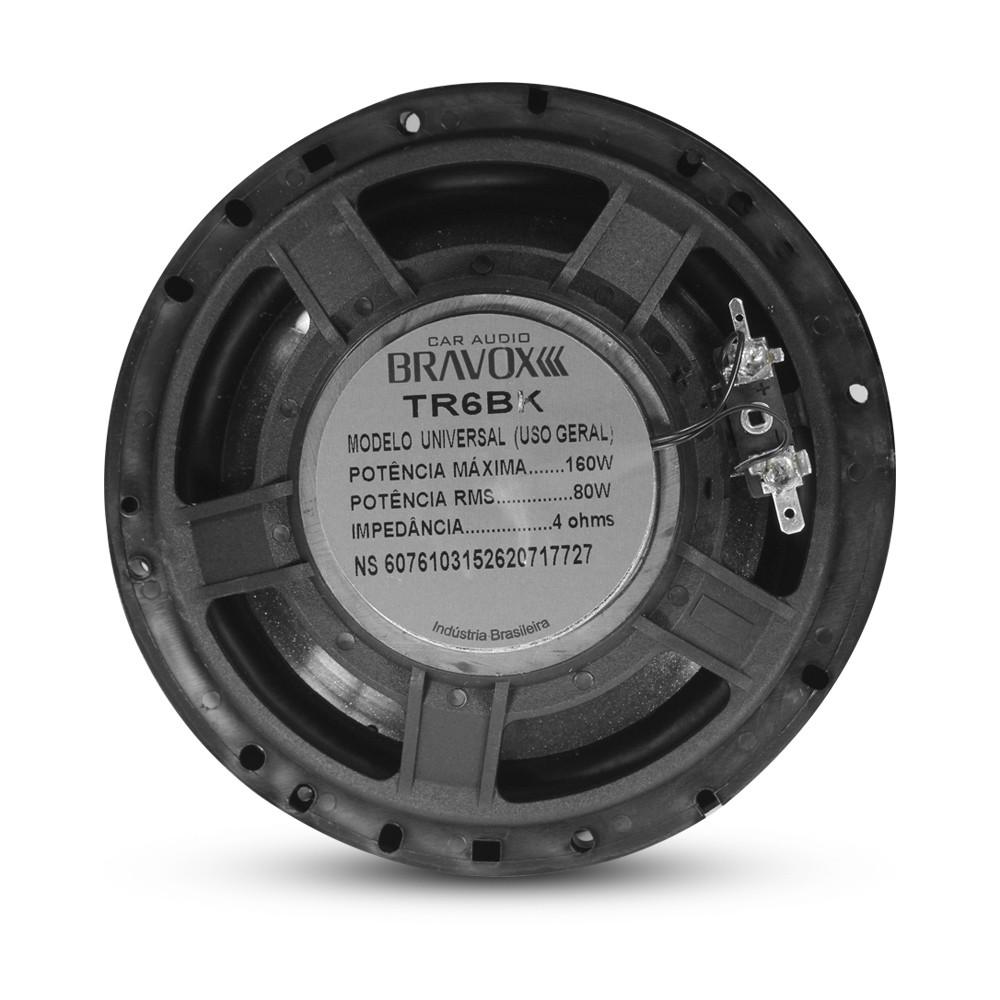 """Kit Facil Bravox Linha Black Alto Falante 6x9"""" 220Wrms e 6"""" 160Wrms"""