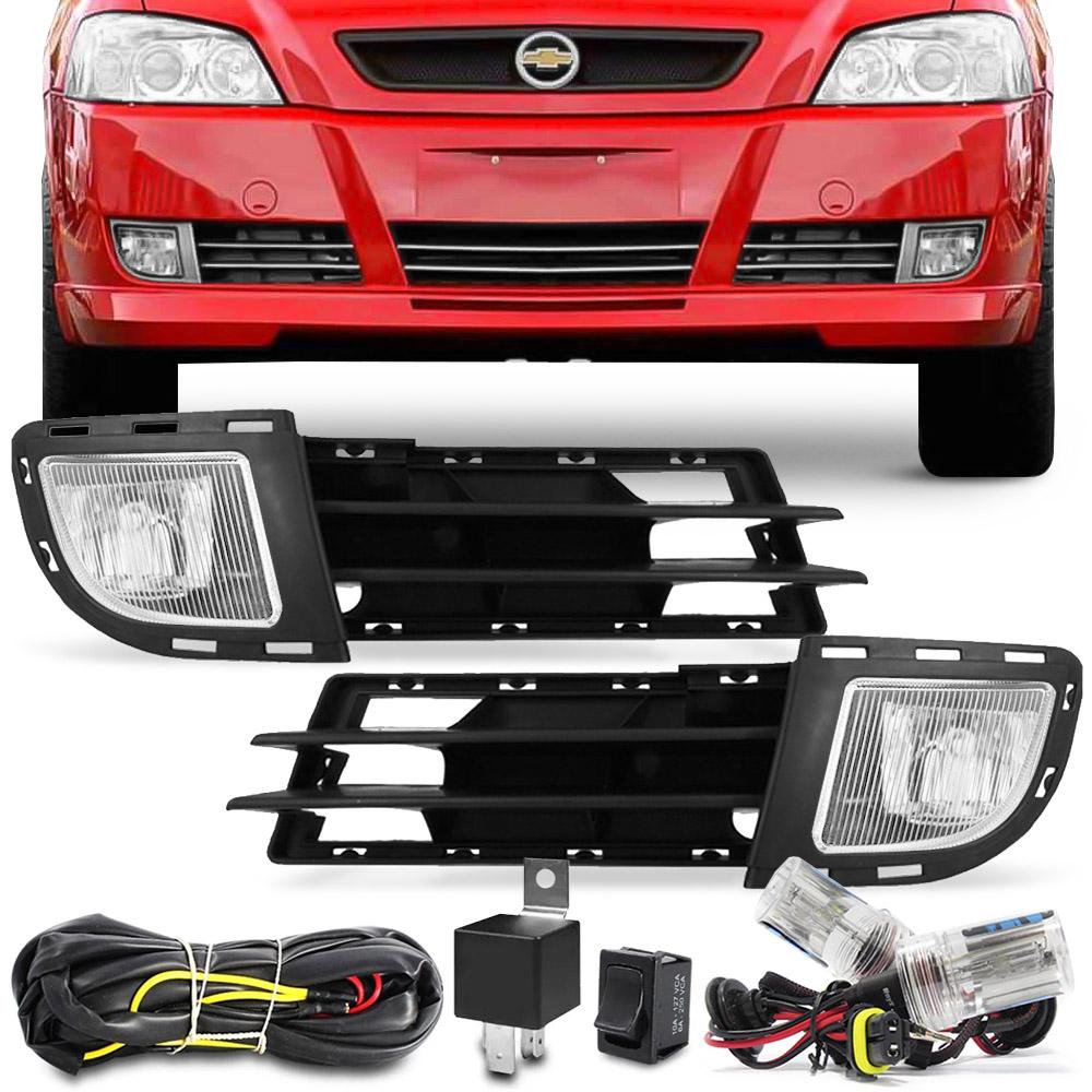 Kit Farol Milha Astra Hatch Sedan 2003 a 2012 + Kit Xenon