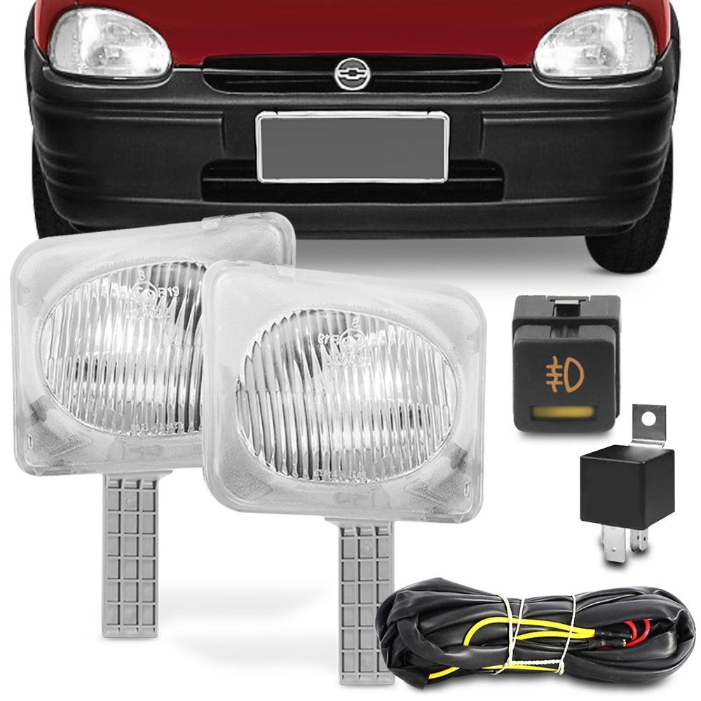 Kit Farol Milha Corsa Wind 1994 a 1998 Wagon Hatch Pickup Botao Original
