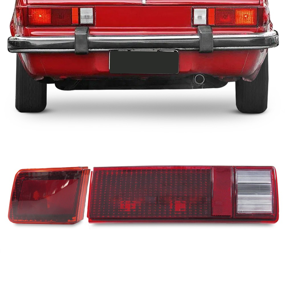 Kit Lanterna Traseira Chevette Sedan 1980 a 1982 Canto Tampa Rubi