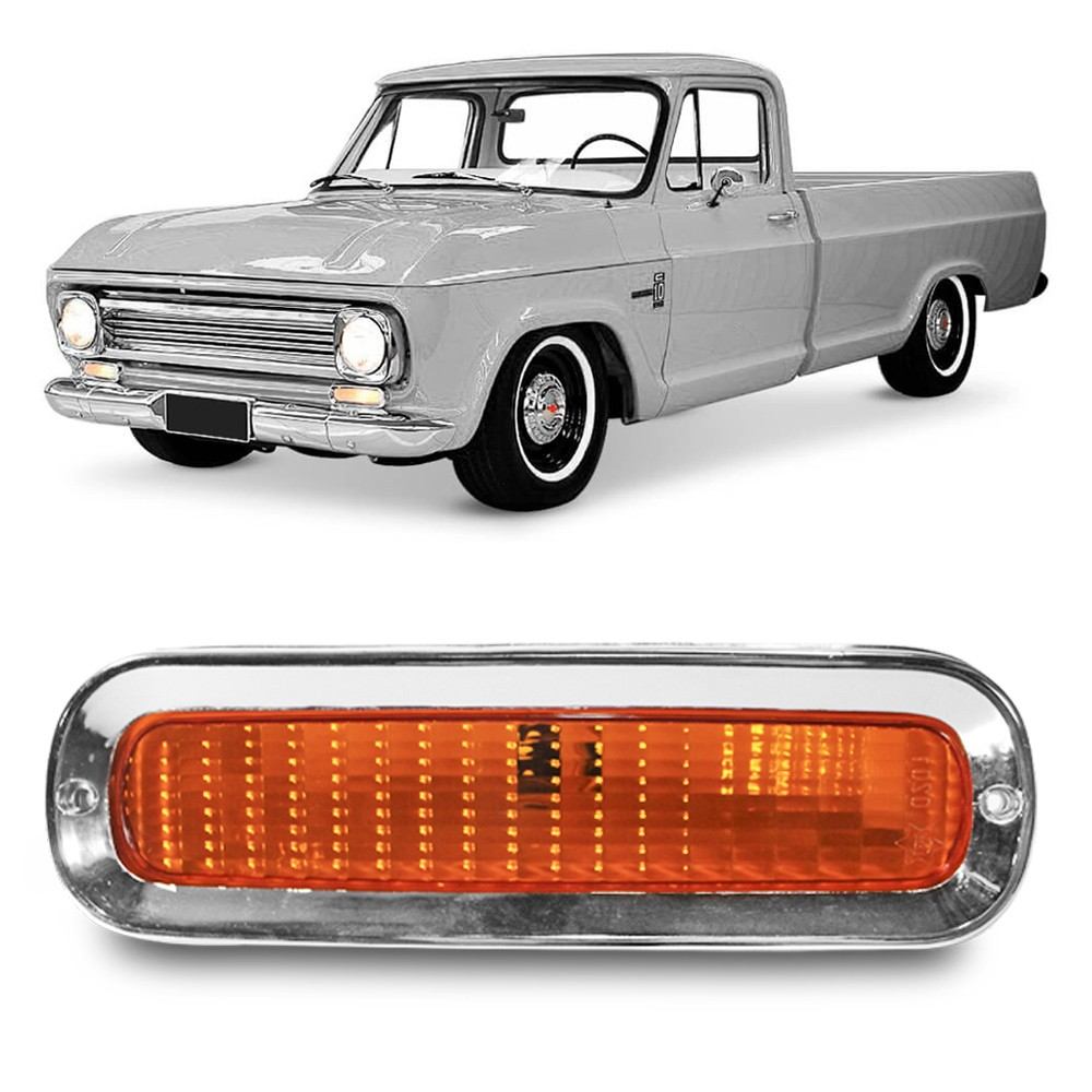 Lanterna Dianteira C10 C14 1964 a 1982 Pisca Ambar