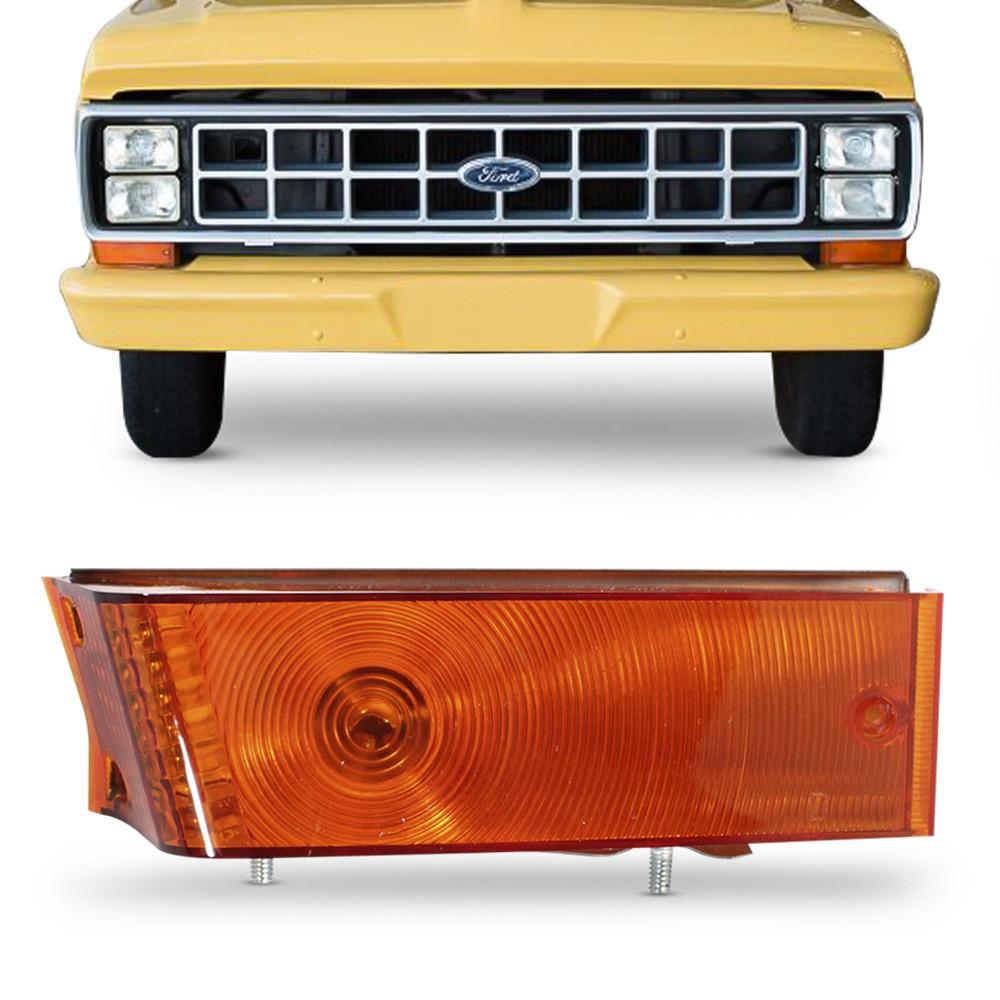 Lanterna Dianteira F1000 F4000 1984 a 1991 Pisca Ambar