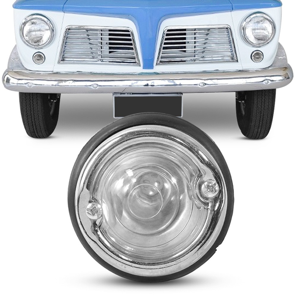 Lanterna Dianteira Jeep Willys Rural 1958 a 1979 Pisca Cristal