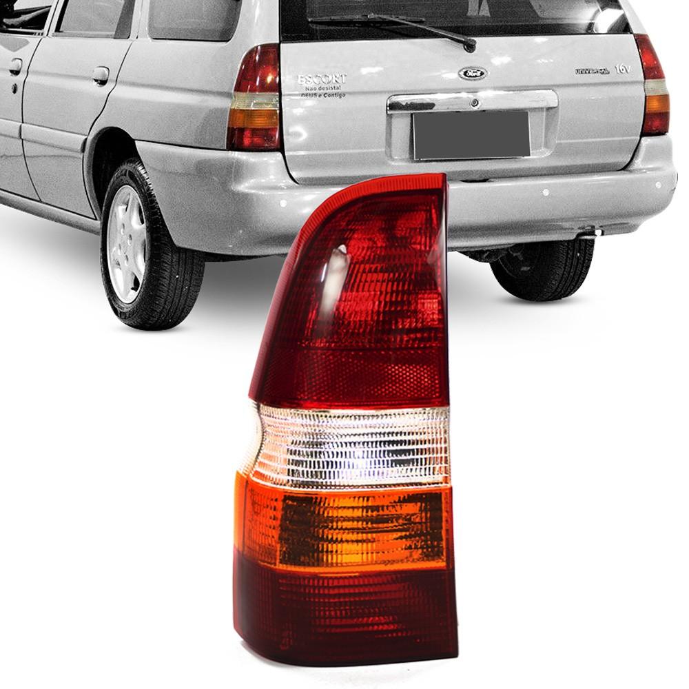 Lanterna Traseira Escort SW 1997 a 2001 Tricolor